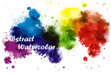 Abstract Rainbow color of watercolor background for illustrator graphic vector design