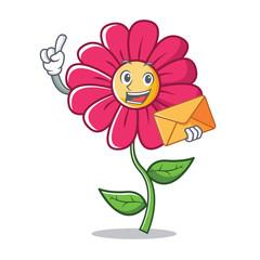 Finger pink flower character cartoon