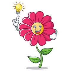 Have an idea pink flower character cartoon