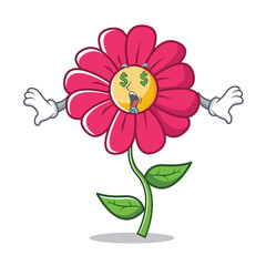 Money eye pink flower character cartoon