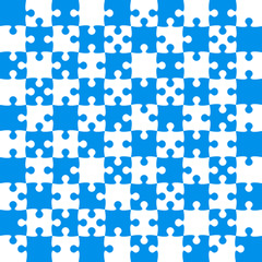 Blue Puzzle Pieces - JigSaw Vector - Field Chess