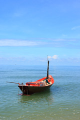 Small fishing boats floating on the beach3