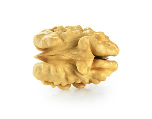 Kernel walnut isolated on the white background. With clipping path.