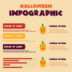 Halloween Infographic design collection stock