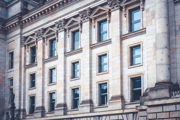 Reichstag building exterior -  historic facade