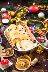 Apple with cinnamon,Thanksgiving and Christmas