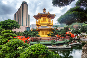 Nan Lian Garden, beautiful urban landscape, an oasis of nature in the heart of Hong Kong