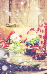 Christmas background. Selective focus.