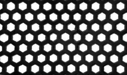 Texture black mesh as background