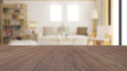 Wohnzimmer Hintergrund mit Fläche aus Holz
