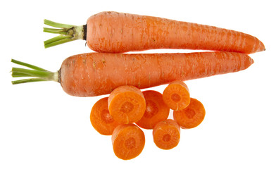 carrot isolated on white background closeup