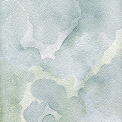 Abstract Watercolor Background in indigo blue