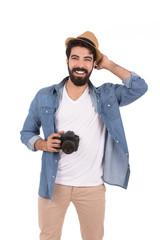 Smiling beard man