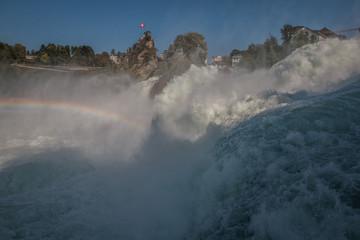Rapids in Rhine Falls Switzerland