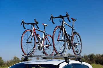 Two road bikes