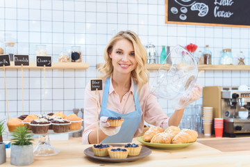 waitress with cookies