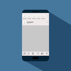 smartphone with template icon