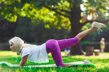 Image of a sports woman engaged in fitness