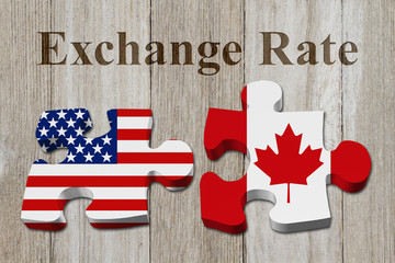 The exchange rate from the US dollar to the Canadian dollar