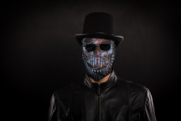 man in a terrible mask, the concept of halloween