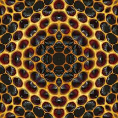 3D Illustration - abstrakt Waben hexagonal symmetrisch
