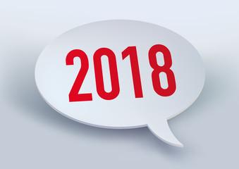 2018 - année - présentation - bulle de BD - carte de vœux - entreprise - bilan