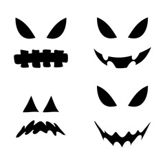 jack o lantern smile silhouette vector symbol icon design. Beautiful illustration isolated on white background