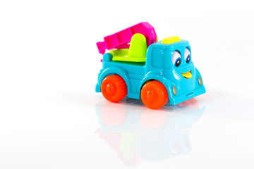 Car Trailers toy isolated on white background