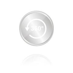 Panorama - Silber Münze mit Reflektion