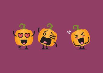 Funny pumpkin character