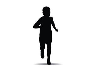 running kids silhouette illustration
