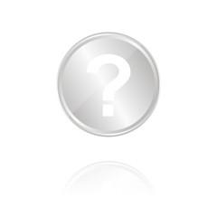 Frage - Silber Münze mit Reflektion