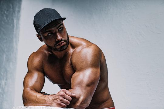 Young man bodybuilder