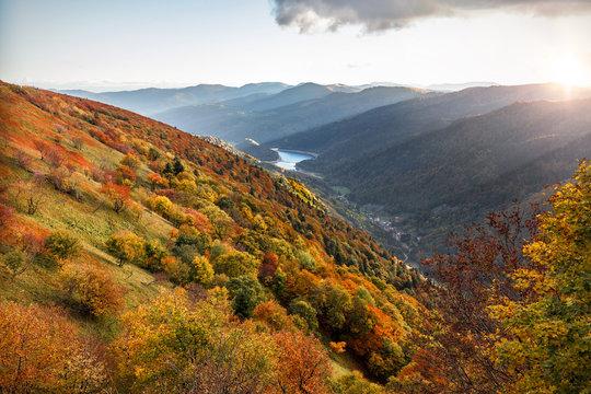 Automne dans les montagnes des Vosges Alsace