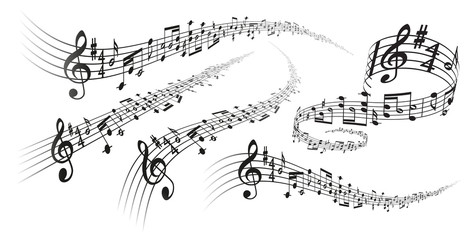 Vector musical score decorations
