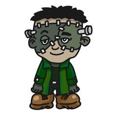 sg171004-Halloween creature monster cartoon - Vector Illustration