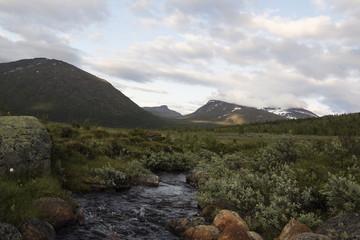 River in jotunheimen mountain area