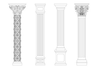 Contouring coloring of classical columns