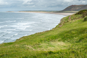 Rhossili Bay view, South Wales, UK