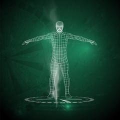 Vector illustration of a human design concept, horoscope, zodiac.