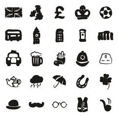 United Kingdom Icons Freehand Fill