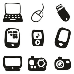 Technology Icons Freehand Fill