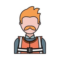 cartoon builder man icon