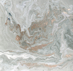 Marble abstract background with golden powder. Nature texture.