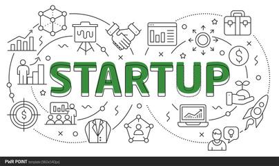 Lines template illustration startup