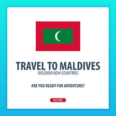 Travel to Maldives. Discover and explore new countries. Adventure trip.