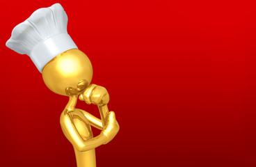 The Original Chef 3D Character Illustration In Contemplation