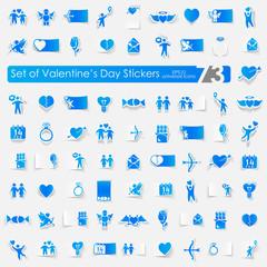 Set of шаблон stickers