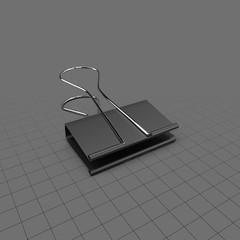 Open binder clip