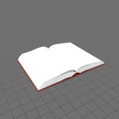 Hardcover book with blank pages
